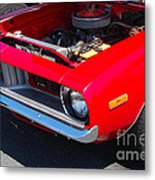 Red Plymouth Barracuda Metal Print