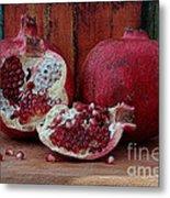 Red Pomegranate Metal Print