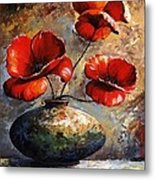 Red Poppies 02 Metal Print