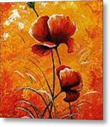 Red Poppies 023 Metal Print