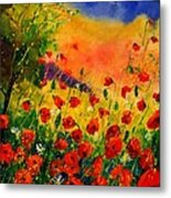 Red Poppies 45 Metal Print by Pol Ledent