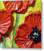 Red Poppies II Metal Print by Paris Wyatt Llanso