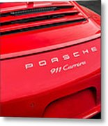Red Porsche 911 Detail E183 Metal Print