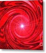 Red Pulsar 112233 Metal Print