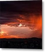 Red Rain Over Tana Metal Print