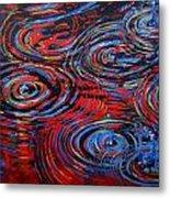 Red Rain Metal Print