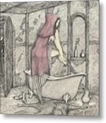 Red Riding Hood-one Month Later Metal Print
