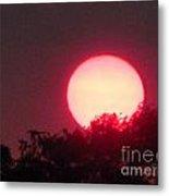 Red Ring Sunset Two Metal Print