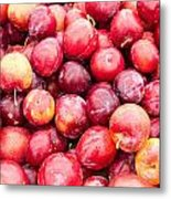 Red Ripe Plums Metal Print
