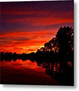 Red Ripples Metal Print by Matt Molloy