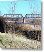 Red River I 35 Train Trussell Metal Print