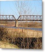 Red River Train Trussell Metal Print