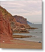 Red Rock By Sea Of Cortez From San Carlos-sonora Metal Print