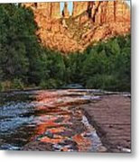 Red Rock Crossing Metal Print