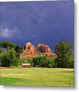 Red Rock Crossing Park Metal Print