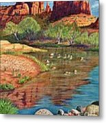 Red Rock Crossing-sedona Metal Print by Marilyn Smith