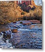 Red Rock Crossing Winter Metal Print by Mary Jo Allen