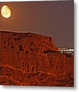 Red Rock Moon Metal Print