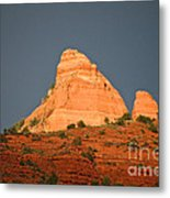 Red Rock Rising Metal Print