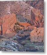 Red Rocks Amphitheater On Fire Metal Print