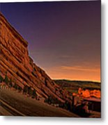 Red Rocks Amphitheatre At Night Metal Print