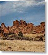 Red Rocks Geometrics Metal Print