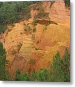 Red Rocks Of Roussillon Metal Print