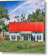Red Roof Charm Metal Print