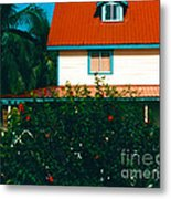 Red Roof Home Metal Print