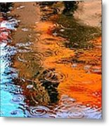 Red Roof Tile Reflection 29412 Metal Print