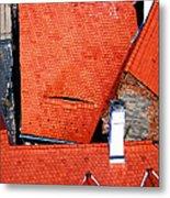 Red Roofs Of Sibiu Metal Print