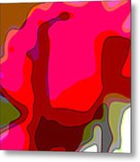 Red Rose Abstract Metal Print