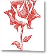 Red Rose Art 1 Metal Print