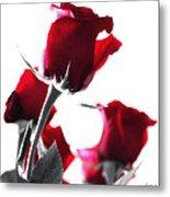 Red Rose Color Block 2 Metal Print