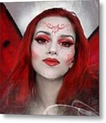 Red Rose Fairy Metal Print