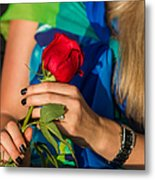 Red Rose - Featured 3 Metal Print