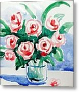 Red Rose For Her Metal Print