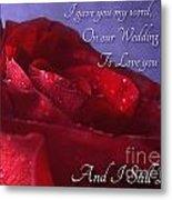 Red Rose Romantic Greeting Card Metal Print