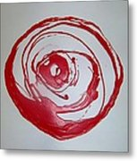 Red Rose Simply 1 Metal Print