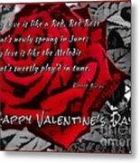 Red Rose Valentine Metal Print