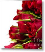 Red Roses Metal Print by Anne Gilbert