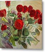 Red Roses Metal Print by Tanya Byrd