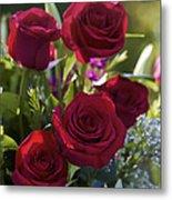 Red Roses The Language Of Love Metal Print