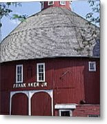 Red Round Barn With Cupola Metal Print