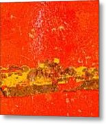Red Rusty Backgound Metal Print