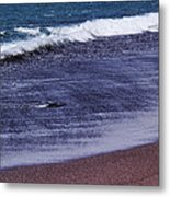Red Sand Beach Abstract Metal Print