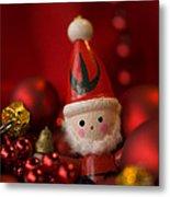Red Santa Metal Print