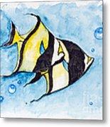 Red Sea Banner Fish  Metal Print