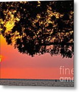 Red Sea Sunset Metal Print by George Paris
