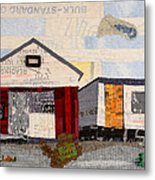 Red Shed Orange Door In Yellow House Pa Metal Print by Martha Ressler
